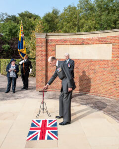 HRH The Duke of Kent unveiling the commemorative stone (c) David Hodgkinson
