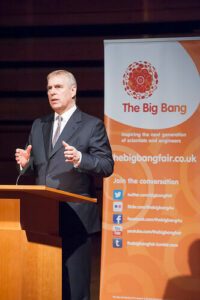 HRH Duke of York delivering his address. (c) David Merewether