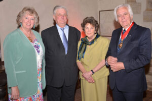 From left: Mrs Susan Haydock, the Chairman of Kent County Council's Escort, the Lord-Lieutenant, Viscount De L'Isle MBE, Viscountess De L'Isle and new Chairman of Kent County Council, Mr Peter Homewood. (c) Robert Berry.