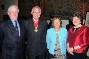 From left to right: Lord- Lieutenant, Cllr Eric Hotson, Mrs Janet Hotson and Viscountess De L'Isle