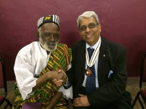 Dr Bhargawa Vasudaven DL with Mr James Barnor.©Dr Bhargawa Vasudaven DL