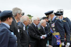 HRH Prince Michael of Kent GCVO greeting veterans. (c) Barry Duffield.