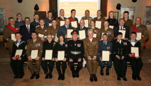 Recipients of Her Majesty's Lord-Lieutenant of Kent Awards 2015 with The Lord-Lieutenant of Kent, Viscount De L'Isle MBE and Brigadier Andrew Hughes MBE , II (Infantry) Brigade Commander. (c) Stewart Turkington