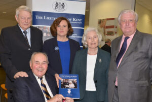 Alan Willett with (L to R) David McDine, Kate Mc, Anne Willett and the Lord Lieutenant.