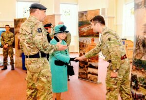 HM The Queen's visit to the Royal Engineers, Brompton Barracks,13th October, 2016
