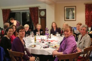 Top table at the New Romney International Women's Day Charity Dinner. (c) Susan Pilcher, Footprints