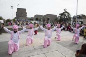 Four by Four Bhangra Dancers at the Celebrations (c) Gravesham Borough Council.