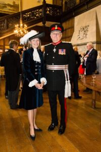 The new High Sheriff of Kent pictured with the Lord-Lieutenant of Kent, The Viscount De L'Isle MBE.