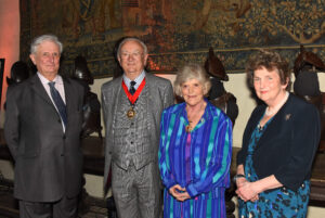 Left to right: Viscount De L'Isle, Lord-Lieutenant of Kent; Mr Mike Angell, Chairman of KCC; Mrs Cecelie Vavasour, Chairman's Escort; Viscountess De L'Isle. (c) Barry Duffield DL.