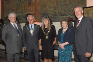 Left to right: Viscount De L'Isle, Lord-Lieutenant of Kent; Cllr David Saunders, Chairman of Thanet District Council; Cllr Mave Saunders, Chairman's Escort; Viscountess De L'Isle;  Mr Bill Fawcus DL. (c) Barry Duffield DL.