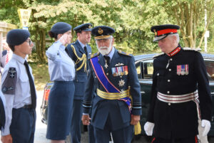 Arrival of HRH Prince Michael of Kent escorted by the Lord-Lieutenant of Kent. (c) Barry Duffield DL