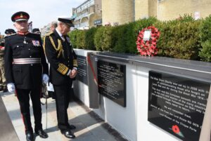 The Lord-Lieutenant of Kent with The Lord Warden of The Cinque Ports Admiral of The Fleet The Lord Boyce at the plaque unveiling ceremony. (c) Barry Duffield DL.