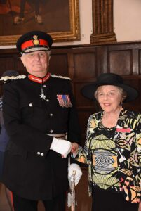 Mrs Diane Knox receiving her medal. (c) Barry Duffield DL.