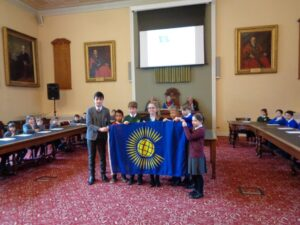 Schoolchildren celebrating the Fly a flag for Commonwealth Day event held in Tunbridge Wells. (c) Jerry Edey.