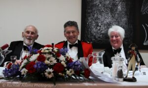 Pictured from left to right: Rear Admiral John Roberts CB, Mr Paul Auston DL representing the Lord-Lieutenant and Lt Caroline Goodwin,Sittingbourne Maritime Cadets and Commanding Officer.(c )Rachel Adams Photography.