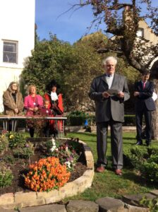 The Lord-Lieutenant delivering his speech at the tree planting ceremony. (c) Margate Museum.