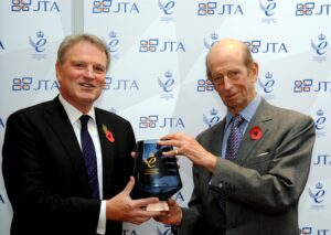 HRH The Duke of Kent presenting Jon Tibbs, Chairman of JTA, with its second Queen's Award for Enterprise in International Trade. (c) JTA.
