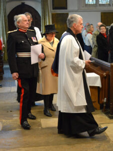 The Lord-Lieutenant and Viscountess De L'Isle arriving at All Saint's Church, Maidstone. (c) Rob Berry.