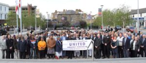 The event which took place in Community Square, Gravesend, attracted a large number of supporters. (c) Kent Equality Cohesion Council.