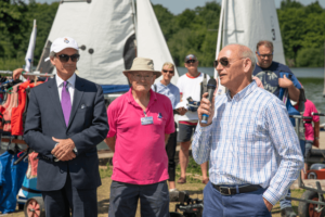 From left to right: Vice-Lord-Lieutenant, Mr Richard Oldfield,and from Wealden Sailability, Mr Brian Stanley and Mr Colin Clarkson. (c) David Barker