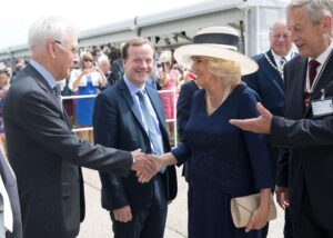 Deputy Lieutenant Mr Bill Fawcus DL introducing HRH to local dignitaries. (c) Stephen Lock.