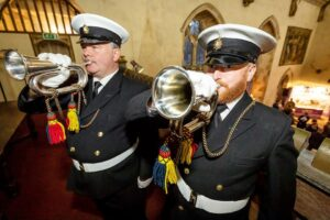 Trumpeters heralding the arrival of the Lord-Lieutenant. (c) Stewart Turkington.