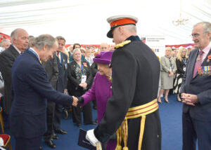 The Vice-Lord-Lieutenant, Mr Richard Oldfield OBE DL, greeting Her Majesty. (c) Rob Berry.