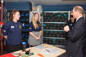 HRH The Earl of Wessex visiting MOAC in Medway